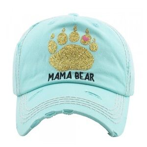 Accessories - Blue light Mama Bear Hat